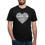 I Love Basketball Brown Organic Toddler T-Shirt (d