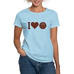 I Love Basketball Brown Women's Light T-Shirt