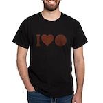 I Love Basketball Brown Dark T-Shirt