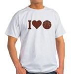 I Love Basketball Brown Light T-Shirt