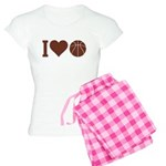 I Love Basketball Brown Women's Light Pajamas