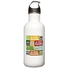 Global Warming Hoax Water Bottle