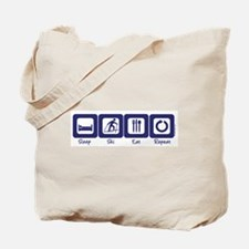 Sleep- Ski- Eat- Repeat Tote Bag