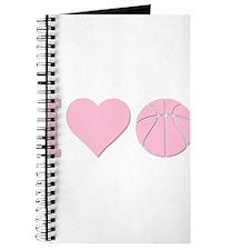 I Love Basketball Pink Journal