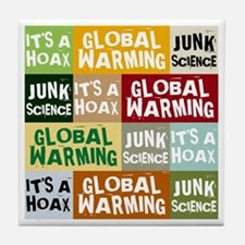 Global Warming Hoax Tile Coaster
