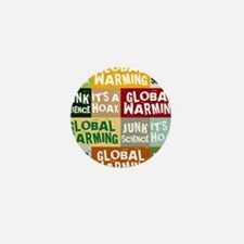 Global Warming Hoax Mini Button