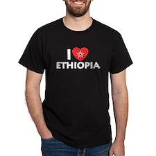 I Love Ethiopia Black T-Shirt