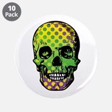 """Bead Pirate Skull 3.5"""" Button (10 pack)"""