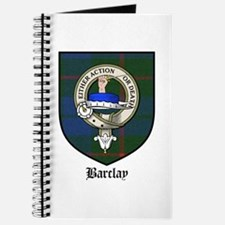 Barclay Clan Crest Tartan Journal