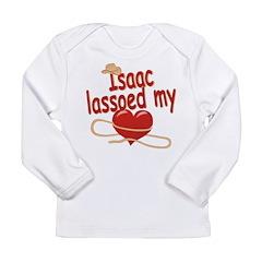 Isaac Lassoed My Heart Long Sleeve Infant T-Shirt