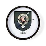 Blyth Clan Badge Tartan Wall Clock