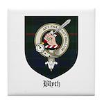 Blyth Clan Badge Tartan Tile Coaster
