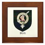 Blyth Clan Badge Tartan Framed Tile