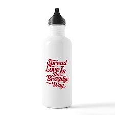 Brooklyn Love Red Water Bottle