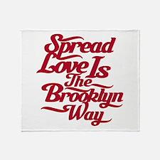 Brooklyn Love Red Throw Blanket