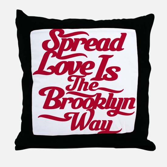 Brooklyn Love Red Throw Pillow