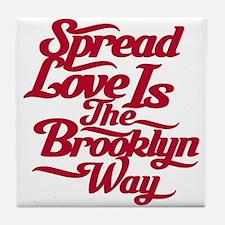 Brooklyn Love Red Tile Coaster