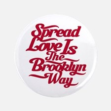 """Brooklyn Love Red 3.5"""" Button"""