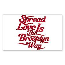Brooklyn Love Red Decal