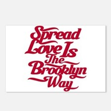 Brooklyn Love Red Postcards (Package of 8)