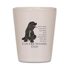 Cocker Spaniel Dad Shot Glass