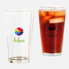 Arlene Valentine Flower Drinking Glass