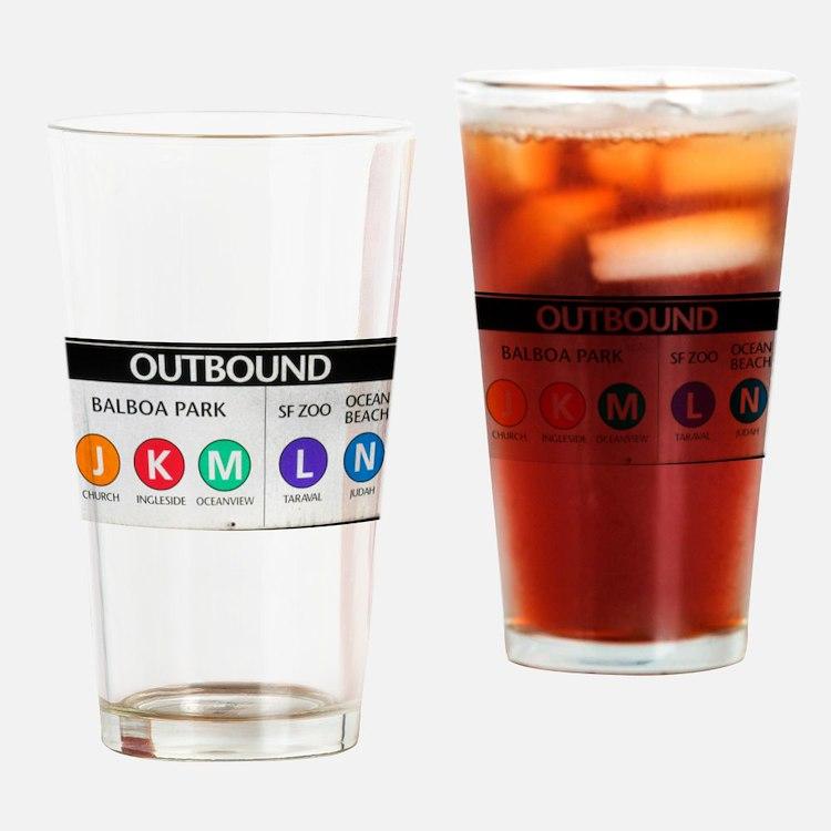 Cute J k Drinking Glass