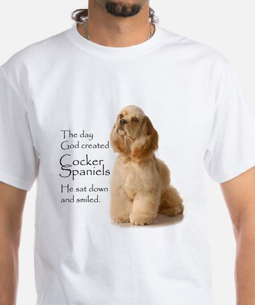 God Created Cockers White T-Shirt