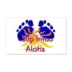 Slip Into Aloha 22x14 Wall Peel