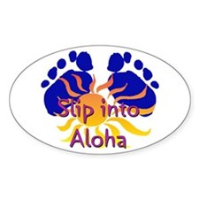 Slip Into Aloha Sticker (Oval)