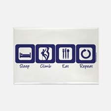 Sleep- Climb- Eat- Repeat Rectangle Magnet