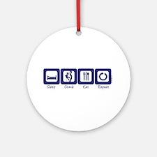 Sleep- Climb- Eat- Repeat Ornament (Round)