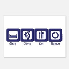 Sleep- Climb- Eat- Repeat Postcards (Package of 8)
