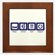 Sleep- Climb- Eat- Repeat Framed Tile