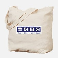 Sleep- Climb- Eat- Repeat Tote Bag
