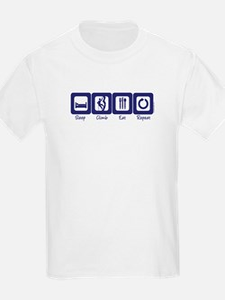 Sleep- Climb- Eat- Repeat Kids T-Shirt