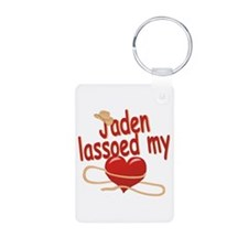 Jaden Lassoed My Heart Aluminum Photo Keychain