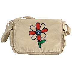 America Flower Messenger Bag