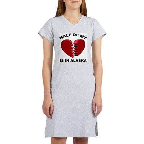 Heart In Alaska Women's Nightshirt