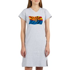 Wavy Arizona Flag Women's Nightshirt