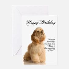 Cocker Spaniel Birthday Card