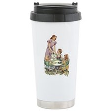 1940's Drink Milk for Lunch Travel Mug