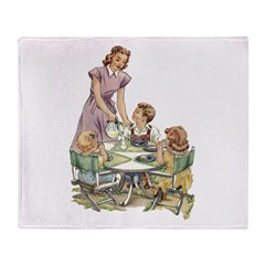1940's Drink Milk for Lunch Throw Blanket