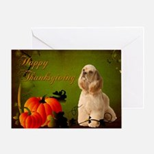 Cocker Spaniel Thanksgiving Card