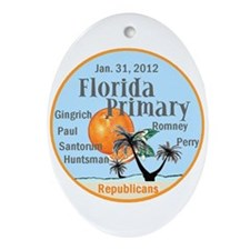 Florida Primary Ornament (Oval)