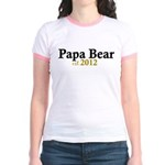 New Papa Bear 2012 Jr. Ringer T-Shirt