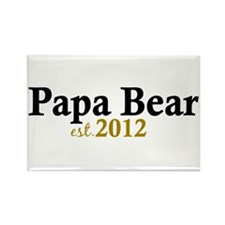 New Papa Bear 2012 Rectangle Magnet (10 pack)