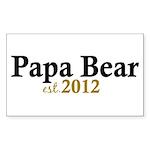 New Papa Bear 2012 Sticker (Rectangle 50 pk)