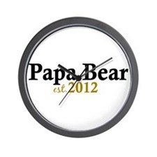 New Papa Bear 2012 Wall Clock