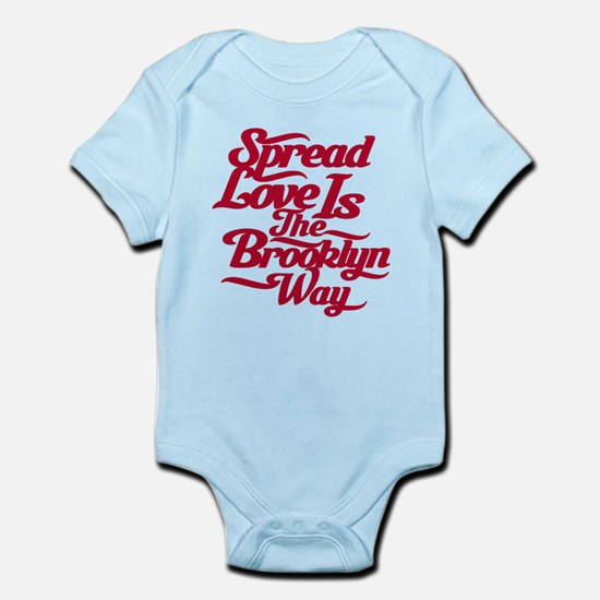 Brooklyn Love Red Infant Bodysuit